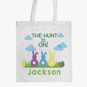 Flash Sale - Personalized Easter Bunnies Tote Bag
