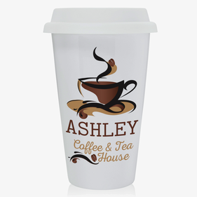 Personalized Coffee & Tea House Eco Tumbler Mug