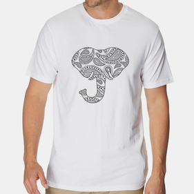 Add Color Personalized Elephant T-Shirt