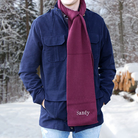 Personalized Embroidered Any Name Knit Scarf