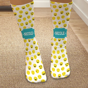 Personalized Emoji Expressions Tube Socks