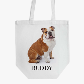 Personalized English Bulldog Cotton Tote Bag