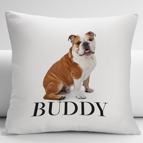 Personalized English Bulldog Decorative Cushion Cover