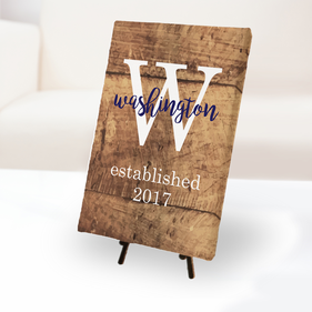 Personalized Established Canvas Print