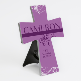 Personalized Established Ceramic Cross Stand