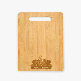 Personalized Fall Leaves Cutting Board