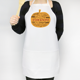 Personalized Fall Pumpkin Apron