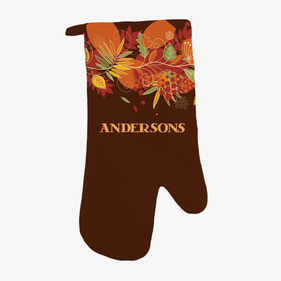 Personalized Fall Pumpkin Oven Mitt