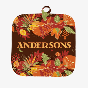 Personalized Fall Pumpkin Pot Holder