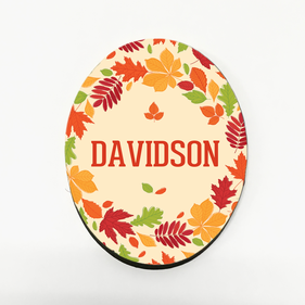 Personalized Fall Refrigerator Magnet