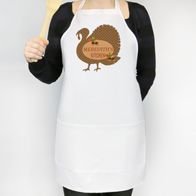Personalized Fall Turkey Adult Apron