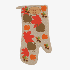 Personalized Fall Turkey Oven Mitt