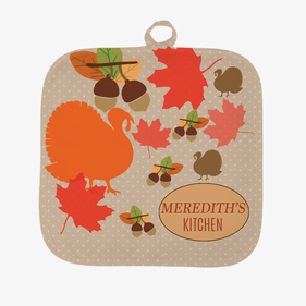 Personalized Fall Turkey Pot Holder