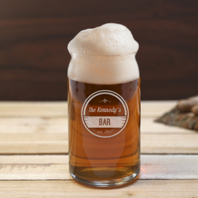 Personalized Family Beer Can Glass