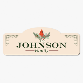 Personalized Family Cardinal Bird Room Sign
