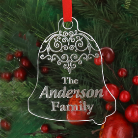 Personalized Acrylic Family Christmas Ornament