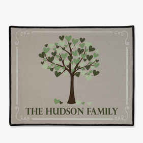 Personalized Family Heart Tree Doormat
