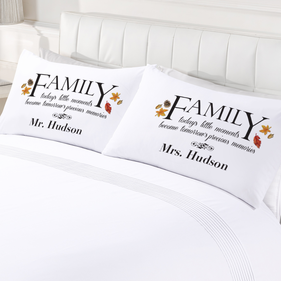 Personalized Family Memories Pillow Case Set