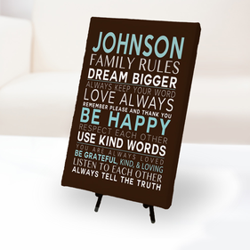 Personalized Family Rules Canvas Print