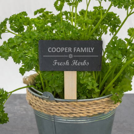 Personalized Family Slate Garden Stick
