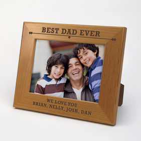 Personalized Father's Day Wooden Picture Frame