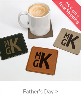 Personalized Father's Day Gifts - use code FDX25 for 25% Off + Free Shipping