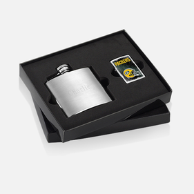 Personalized Flask with NFL Lighter