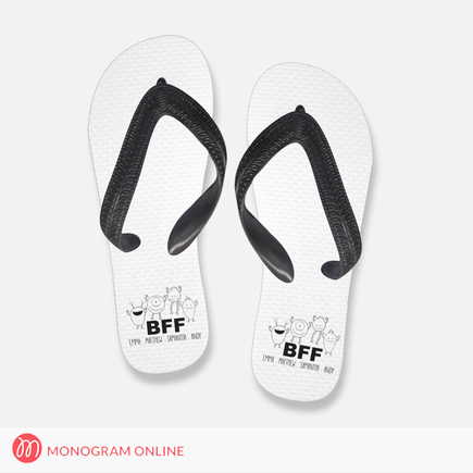 Personalized Flip Flops BFF Design