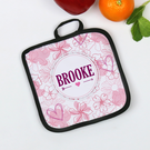 Personalized Floral Potholder