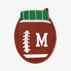 Personalized Football Potholder Gift Set With Dishtowel
