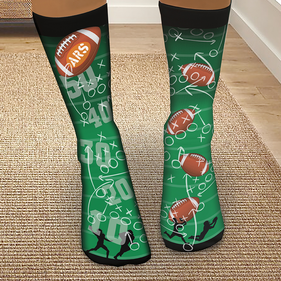 Personalized Football Tube Socks