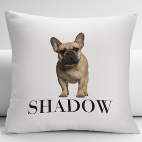 Personalized French Bulldog Pets Decorative Cushion Cover
