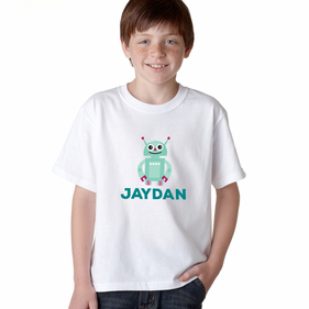 Personalized Friendly Robot T-Shirt
