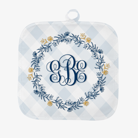Personalized Frilly Monogram Pot Holder