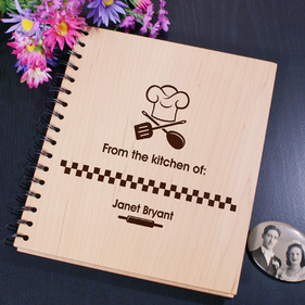 Personalized From The Kitchen Of Engraved Recipe Card Holder