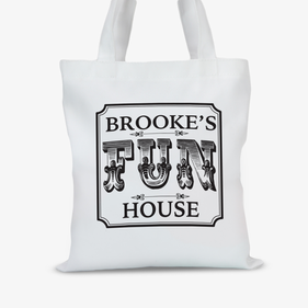 Personalized Fun House Large Trick or Treat Tote Bag