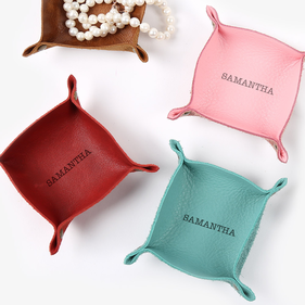 Personalized Genuine Leather Mini Catchall