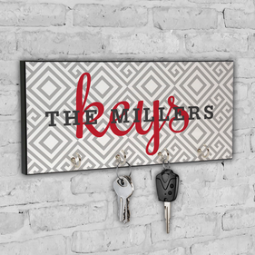 Personalized Geo Design Key Hanger