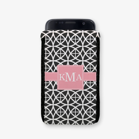 Personalized Geo Trellis Design Phone Pouch