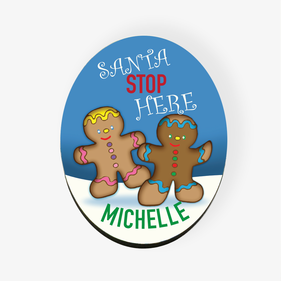 Personalized Gingerbread Cookies Refrigerator Magnet