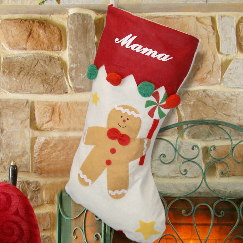 gingerbread man christmas stocking - Monogrammed Christmas Stockings