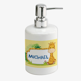 Personalized Giraffe Soap Dispenser