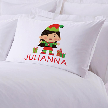 Personalized Girl Elf Kids Pillowcase