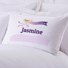 Personalized Girl's Tooth Fairy Pillow Case