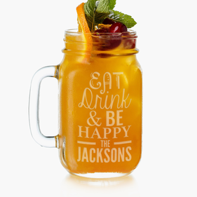 Personalized Mason Glass Jar