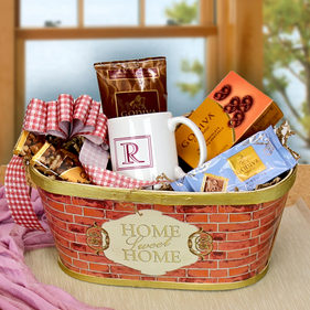 "Personalized  ""Home Sweet Home"" Godiva Coffee & Chocolate Gift Basket"