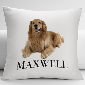 Personalized Golden Retriever Decorative Cushion Cover