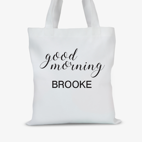 Personalized Good Morning Kids Tote Bag