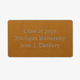 Personalized Graduate Wallet Card Insert