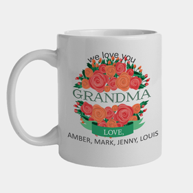 Personalized We Love You Grandma Mug